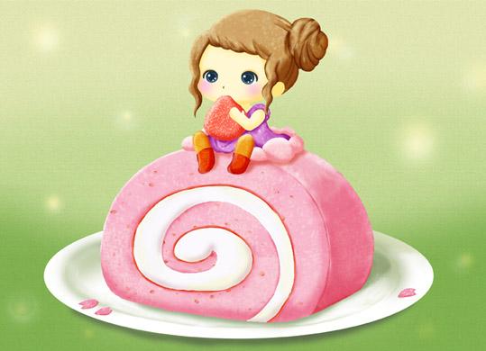 いちごロールケーキ